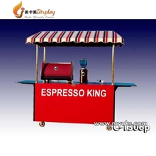 Modern Street Food Kiosk Cart Mobile Coffee Cart Hot Dog Cart For Sale