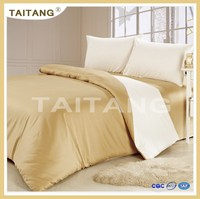 (2) Luxury design 100% cotton sateen plain white 5 star hotel jacquard bedding set