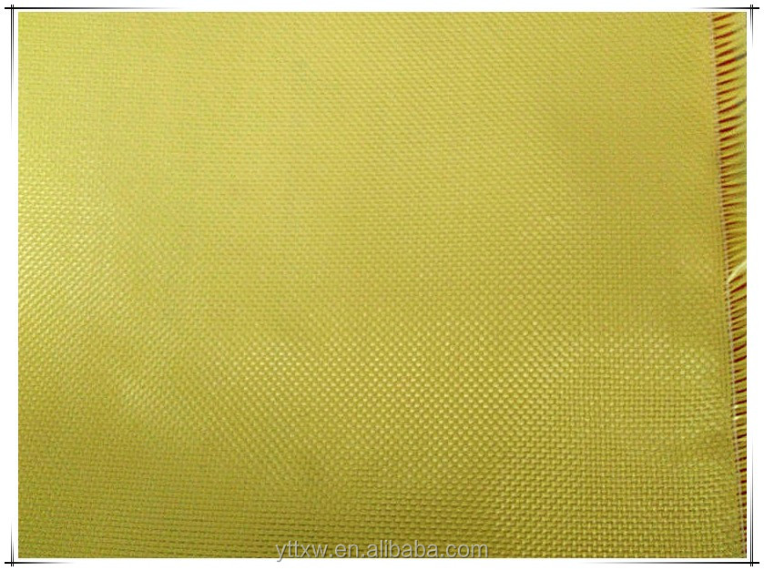 Yellow kevlar fabric