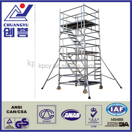 Scaffolding stabilizer for aluminium mobile tower