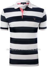 Slim-Fit Multi-Striped Custom golf Polo Shirt for men