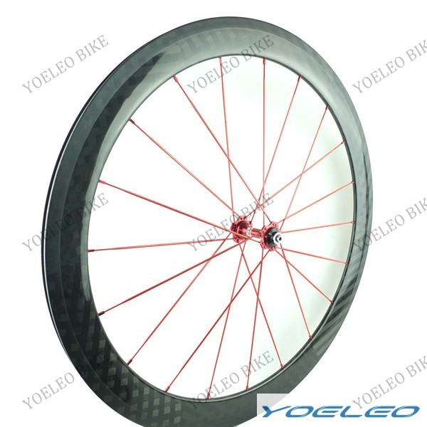 "20""(451) Carbon Clincher 50MM Bike Wheel Road with Novatec Hubs A291SB / F482SB"