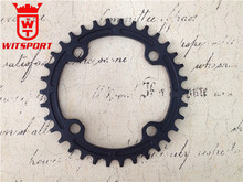 CNC machined Drop-Stop104mm BCD 4 Bolts Narrow-Wide 36T Single Chainring Oval Chainring
