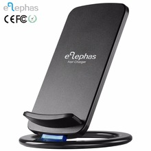QI universal Wireless Charger for iPhone X 8, Movable Coils High-Speed Fast Wireless Charging Stand Hidden LED Indicator Design