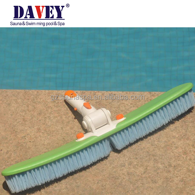 China swimming pool equipment wall cleaning green color pool brush