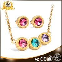 wholesale latest necklace 18 carat gold jewelry sets