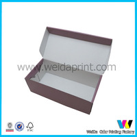 pink cardboard shoe box wholesale