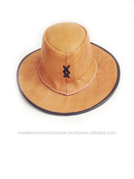 Moroccan Genuine Leather Cowboy Hat