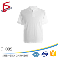 Wholesale polo neck white blank plain colorful t shirt men