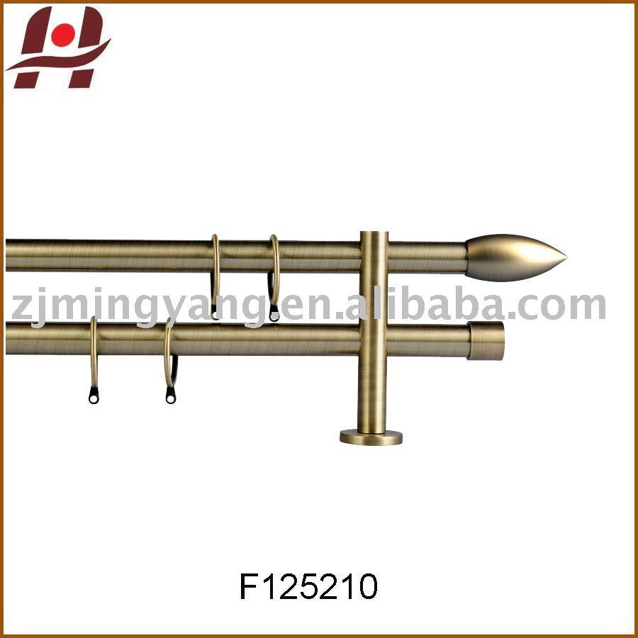 F125210 métal fer laiton plaqué fenêtre double pôle tringles à ...
