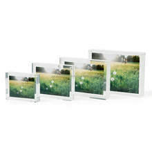 Factory hand make Lowest price Double sides 100% pure material wall mount acrylic picture framepicture frame
