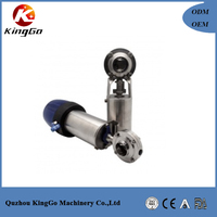 Sanitary stainless steel pneumatic actuator butterfly valve with control positioner