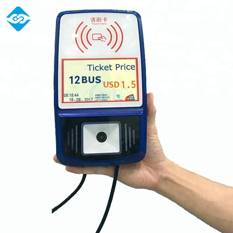 3G/4G Bus Rfid Reader for mobile payment Bus POS Terminal with barcode engine Q6
