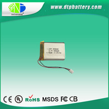 2015 new design extended 3.7v 400mah rechargeable li polymer battery pack
