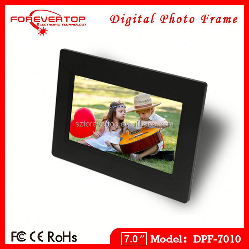 Mp3 player slideshow gift 7 inch digital picture photo frame with free download software