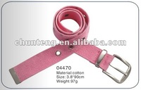 2012 Hot fashion pink cotton belt