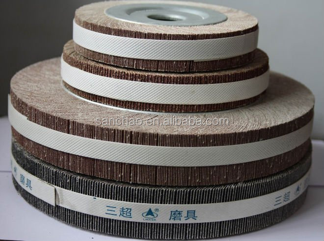 top quality Wood Sanding Flap Wheels / Sandpaper Abraisve Flap Wheel