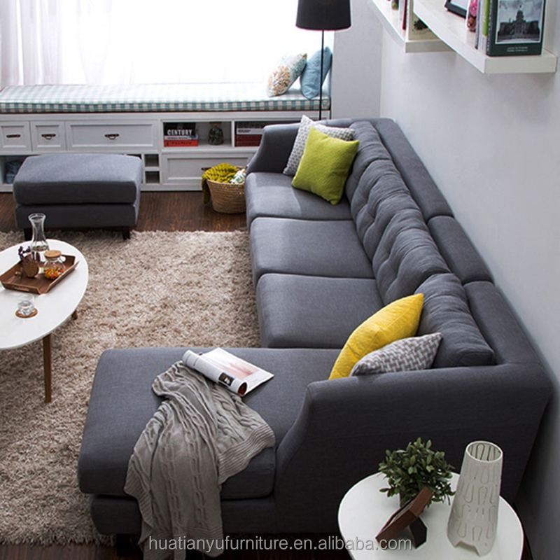 Furniture living room l shape sectional upholstered chesterfield sofa with reclining sleeper