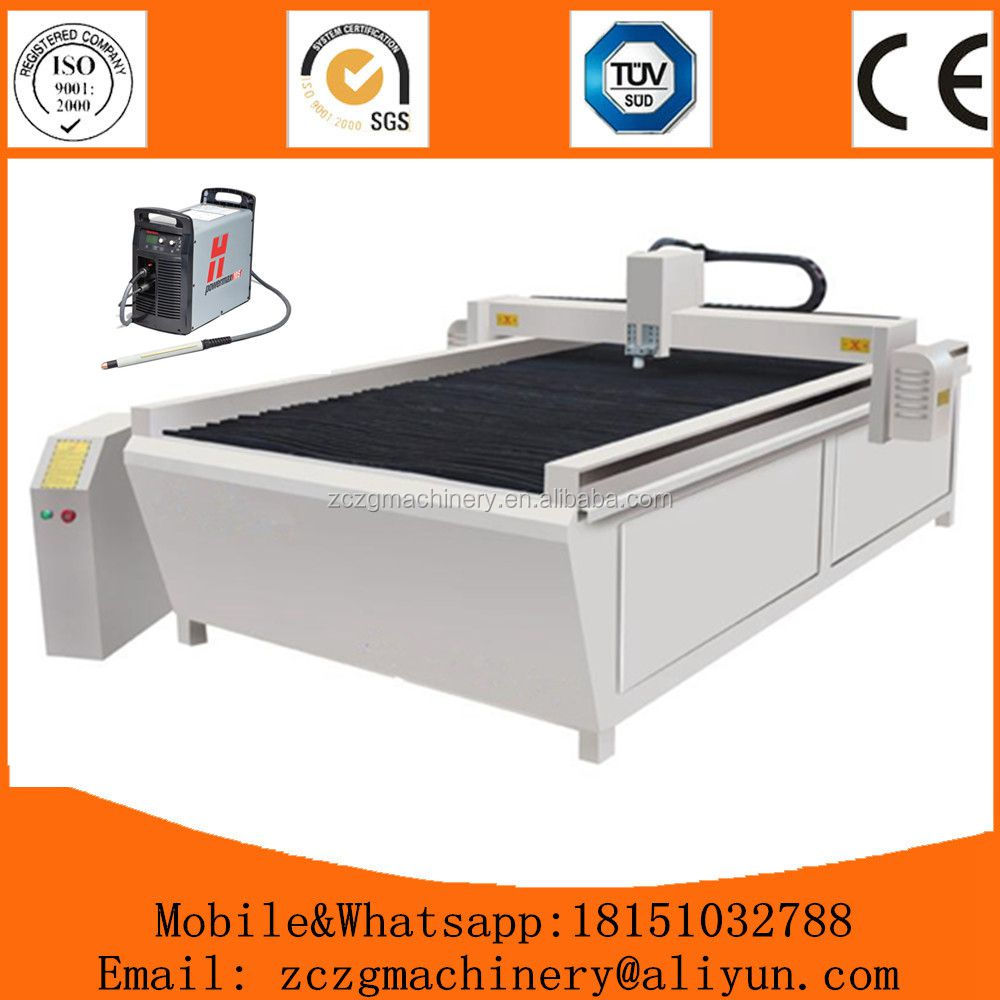 Top quality 380V table type CNC plasma cutter with one cutting torch manufacturer