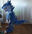 HOLA blue dragon mascot costume for show