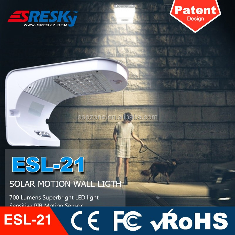 Power Solar Led Garden Lamp Wall Mounted