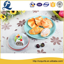 Factory outlet high hardness various color beaded edge dessert plate
