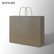 guangzhou craft paper twisted handle brown paper shopping bags for wholesale grocery