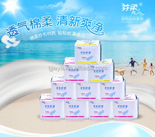 Private label organic sanitary napkin pads/women sanitary napkin with negative ion