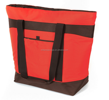 Red Folds for easy storage Thermal Tote