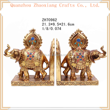 ZH70962 S-2 Spring Elephant Item Bookends Resin Crafts Polyresin Home Decoration Gifts golden elephant statue bookends sculpture