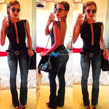 Fashion Women Clothing Tops Blouse Pure Body Dug Backless Sexy Hot Girl Women Blouse Shirt Jumpsuit