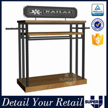 free standing display rack,4 sides rotating display rack for clothing store