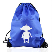 Low Cost Eco friendly Promotional Brand Cotton Cord Closure Nylon Drawstring Bag