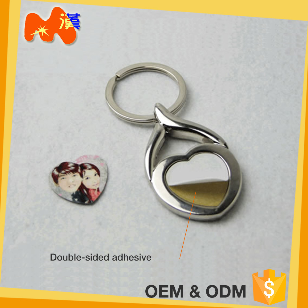 Cheap Best Birthday Gift Metal Shaped Digital Photo Keychain
