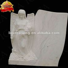 White marbel stone angel tombstone