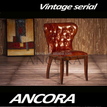 American style wooden side chair/antique leather dining room chair K657