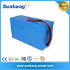 High quality rechargeable storage battery 48v 20ah lithium battery pack for backup solar led light/ebike