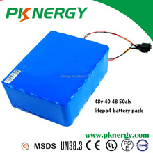 high power lifepo4 48v 10ah 20ah 48ah 50ah battery pack rechargeable lithium ion battery li ion battery pack