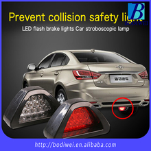 Universal F1 style 12 LED red/white car rear tire third brake light stop safety lamp light