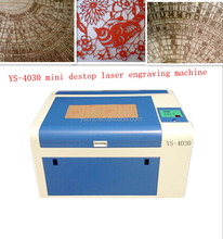4030 wood/acrylic/MDF/aluminum/leather/paper mini laser engraving machine for glass China desktop