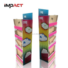 Light Weight Carton Retail Display Stand for Food Movers