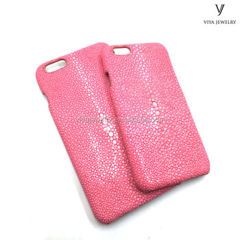 pink stingray leather phone case for girl friend 4.7/5.5 inch
