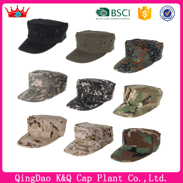 Customized high quality camo military octagonal caps