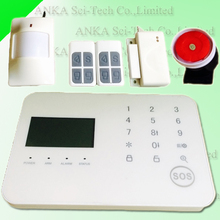 Wireless pstn touch screen home burglar security alarm panel with gsm module