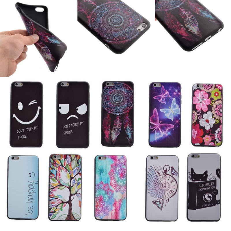 TPU Case for iPhone 6/6S, for iPhone 6/6S Colorful Printing Soft TPU Case