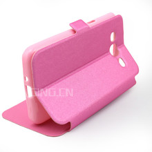 Window View leather case For Samsung Galaxy Core duos I8260 I8262 with Stand