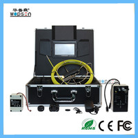 Meter/feet counter of cctv pipe inspection DVR system for air duct
