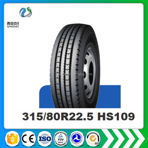 china hot selling 24.5 inch tyre prices huasheng TBR 315/80R22.5 18/20PR HS109 HS928 import china goods truck tire
