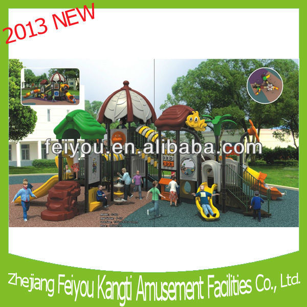 2013FY07501 outdoor playground sets plastic playhouse kids games dream space equipment naughty castle