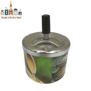 small size tin ashtray with lid tinplate ashtray
